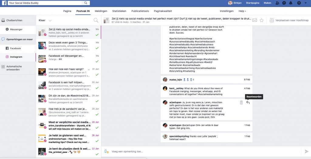 Facebook Postvak IN
