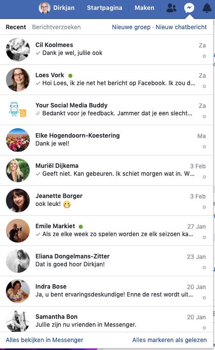 facebook Postvan IN: prive messenger