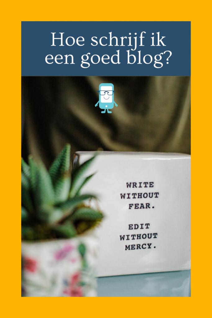Hoe schrijf ik een goed blog? Dat is gemakkelijker gezegd dan gedaan.